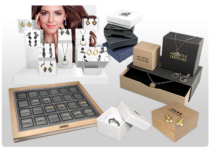 <B>Boxes, trays and displays for jewellery and watches.</B>