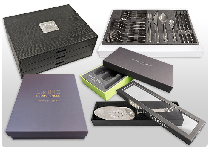 <B>Packaging for china, glass and cutlery.</B>