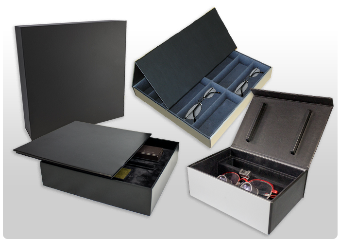 <B>Cases and boxes for glasses and optometrists.</B>